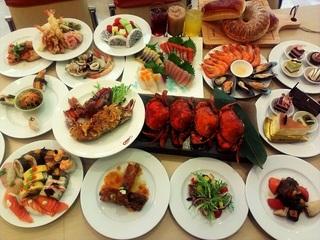 台中【饕餮美食天堂 - 通豪大飯店】假日午、晚餐吃到飽四人券