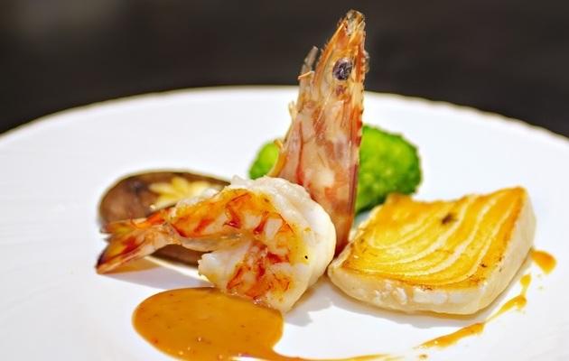 台中【旭鐵板創作料理】經典海陸單人套餐